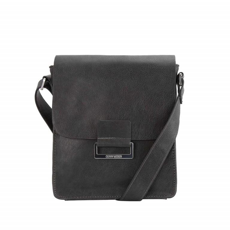 Gerry Weber Talk Different Flap Bag M Synthetisches Leder Schwarz, Farbe: schwarz, Marke: Gerry Weber, EAN: 4006053786324, Abmessungen in cm: 19.0x22.0x8.0, Bild 1 von 1