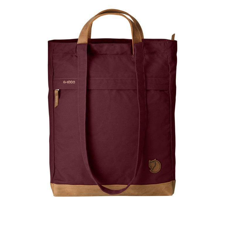 Fjällräven Totepack No.2 Shopper Weinrot, Farbe: rot/weinrot, Marke: Fjällräven, EAN: 7323450091132, Abmessungen in cm: 33.0x42.0x12.0, Bild 1 von 2