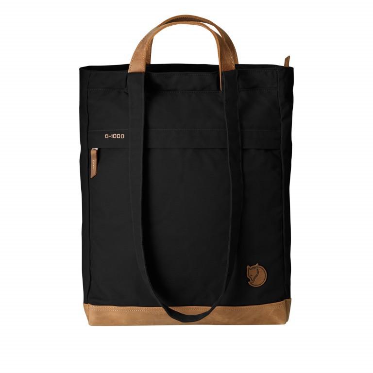Fjällräven Totepack No.2 Shopper Schwarz, Farbe: schwarz, Marke: Fjällräven, EAN: 7323450091149, Abmessungen in cm: 33.0x42.0x12.0, Bild 1 von 2