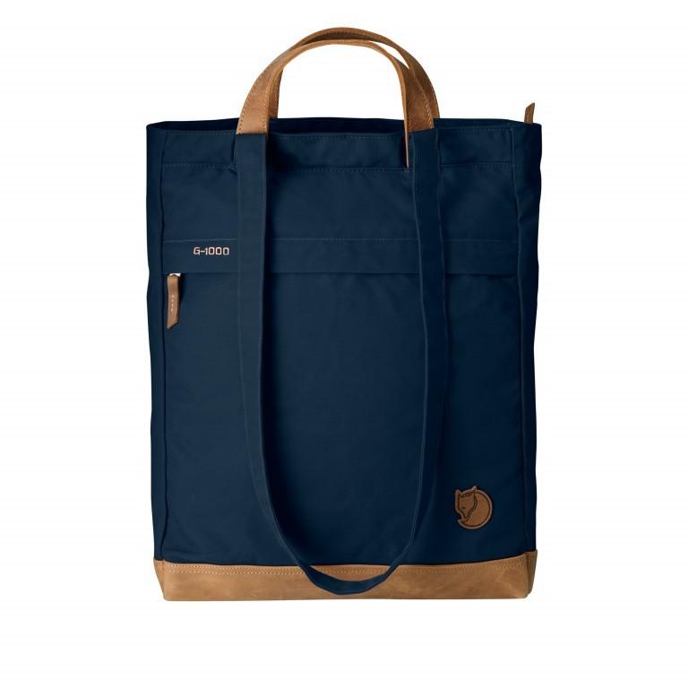 Fjällräven Totepack No.2 Shopper Blau, Farbe: blau/petrol, Marke: Fjällräven, EAN: 7323450091156, Abmessungen in cm: 33.0x42.0x12.0, Bild 1 von 2
