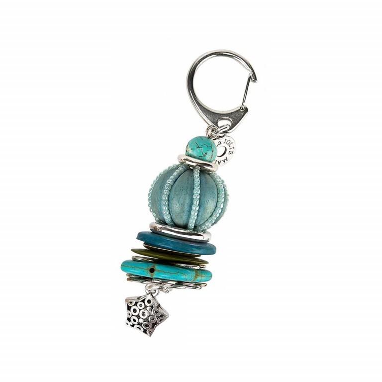 La Jolie Maison Schlüsselanhänger Türkis Blau, Marke: La Jolie Maison, Abmessungen in cm: 4.0x11.5x4.0, Bild 1 von 1