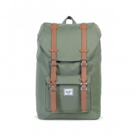 Herschel Rucksack Little America Medium 14L Deep Lichen Green Tan