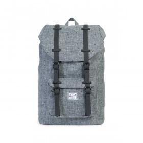 Herschel Rucksack Little America Medium 14L Scattered Raven Crosshatch Black Rubber