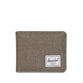 Herschel Roy Coin Wallet Charcoal Canteen Crosshatch