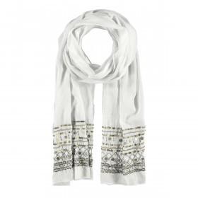 Passigatti Baumwolle Schal Pailletten Weiß