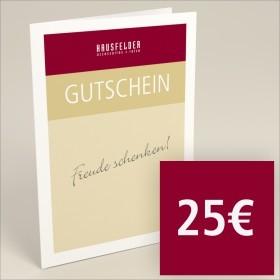 Gutschein zum selber ausdrucken 25 €