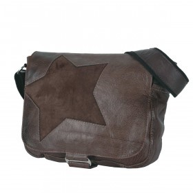Bull & Hunt Twenty Five Kuriertasche Star Waxed Cognac