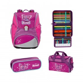 Scout Alpha 4lg. Schulranzen-Set Purple Butterfly