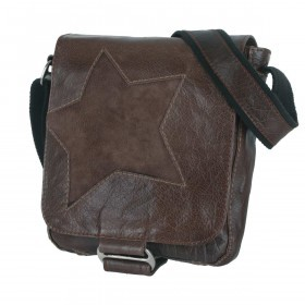 Bull & Hunt Speed Kuriertasche Star Waxed Cognac