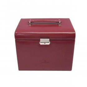 Windrose Merino Schmuckkoffer mit integrierter Schmucktasche Rot