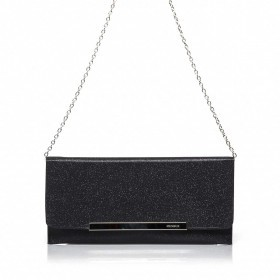 Menbur Clutch mit Glitzereffekt Black