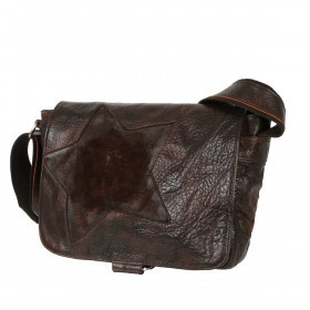Bull & Hunt Twenty Five Kuriertasche Waxed-Brown