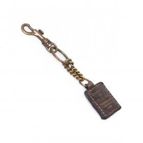 Campomaggi Schlüsselanhänger Leder Grau PC012
