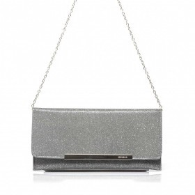 Menbur Clutch mit Glitzereffekt Grey