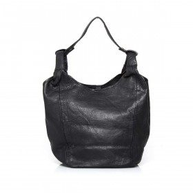 Anokhi Leder-Shopper Cheyenne Black