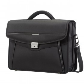 "Samsonite Desklite 67771 Briefcase 2 Gussets 15.6"" Black"
