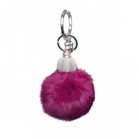 La Jolie Maison Taschenanhänger Fell Pink