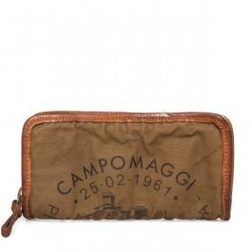 Campomaggi Börse CP0132-TVVLTC-1702 Vintage Canvas Cognac / Druck Schwarz