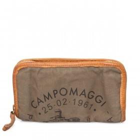 Campomaggi Börse CP0132-TEVL2-2393 Canvas Khaki / Druck Schwarz