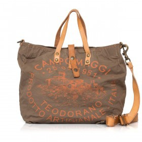 Campomaggi Canvas 33cm C1389-TEVL-3434 Khaki / Druck Orange