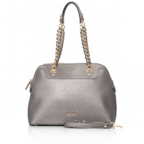 LIU JO Anna Chain Shopping Bag M Gun Metal