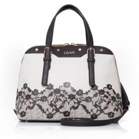 LIU JO Aromia Lace Shopping Bag M Grey