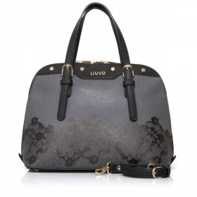 LIU JO Aromia Lace Shopping Bag M Acciaio