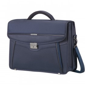 "Samsonite Desklite 67771 Briefcase 2 Gussets 15.6"" Blue"