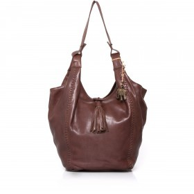 Anokhi Leder-Shopper Elsa Chocolate