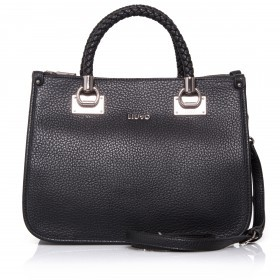 LIU JO New Anna 3-Fächer Shopper Nero Gun Metal