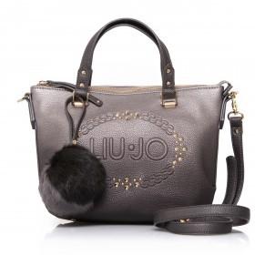 LIU JO Lucciola Shopping Bag S Metal Frozen