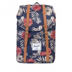 Herschel Rucksack Retreat 18L Peacoat Floria Tan
