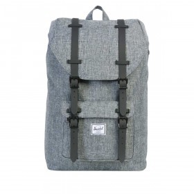 Herschel Rucksack Little America Medium 14L Raven Crosshatch Black Rubber