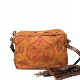Campomaggi Guarana Tasche Canvas C4581C-TBSVLT-1702 Cognac / Druck Orange