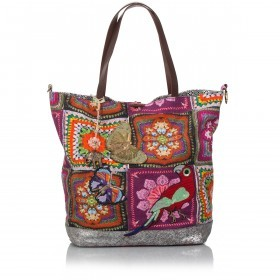 Anokhi Shopper Cheyenne 117-5201-0088 Canvas Metallic Mexicana