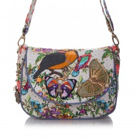 Anokhi Saddlebag 5202 Canvas Parrots