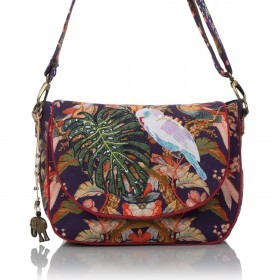 Anokhi Saddlebag 5202 Canvas Jungle Blue