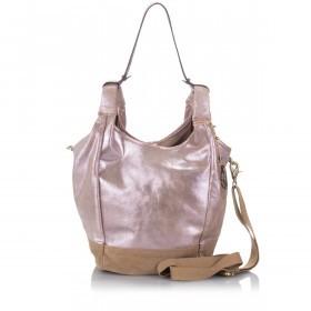 Anokhi Beutel Isi 117-7124-502 Leder Shiny Pink