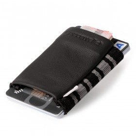 SPACEWALLET Classic Leder Business Black