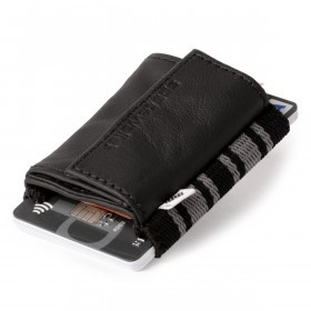 SPACEWALLET 2.0 Push Leder Business Black