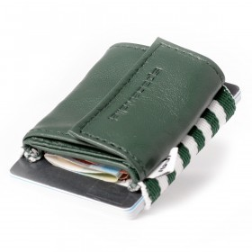 SPACEWALLET 2.0 Push Leder Tropic Green