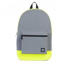 Herschel Rucksack Packable Daypack Silver Neon Yellow Reflective