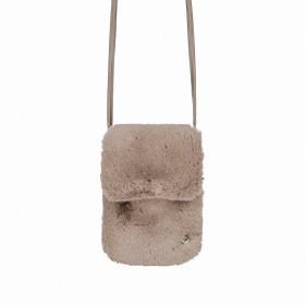 RINO & PELLE Mini Felltasche Duwa Faux Fur Taupe
