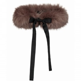 RINO & PELLE Fellkragen Ronna Faux Fur Chocolate