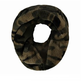 RINO & PELLE Adrina Loop Schal Faux Fur Army Green