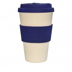 Ecoffee Cup 400ml Blue Nature With Blue Silicone