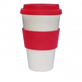Ecoffee Cup 400ml Red Nature With Red Silicone