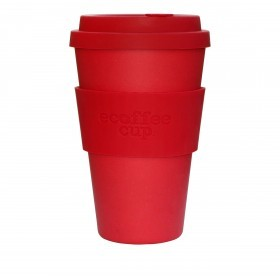 Ecoffee Cup 400ml Red Dawn With Red Silicone
