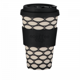 Ecoffee Cup 400ml Basketcase With Black Silicone