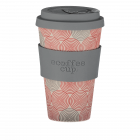 Ecoffee Cup 400ml Swirl With Grey Silicone